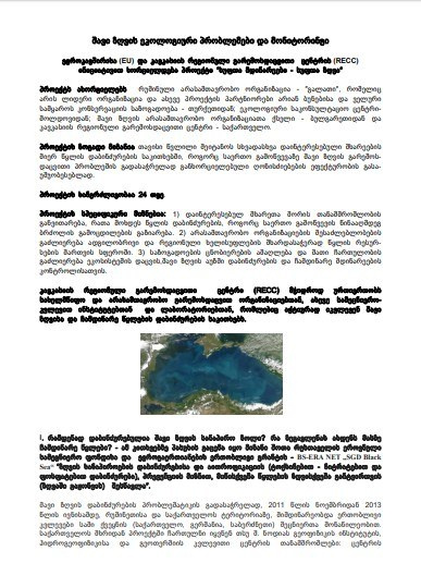 Black Sea Environmental Problems and Monitoring (Georgian version)